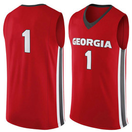 Wholesale NO Georgia Bulldogs Men College Basketball Jersey embroidery UGA Athletic Outdoor Apparel Mens Sport Jerseys Size S XL