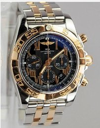 Wholesale 2015 brandswatch8u suggest full blue automatic chrono Windrider Chronomat B01 Chronograph Watch Steel K Rose Gold CB0110