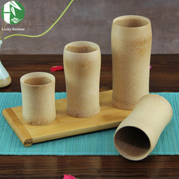 Wholesale Natural bamboo tea cup Japanese style classic wooden beer milk mugs eco friendly vintage crafts for home decoration