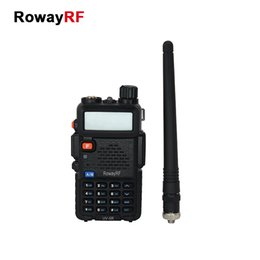 Wholesale RowayRF UV R Walkie Talkie Portable Analog Two Way Radio Handheld Intercom UHF VHF Amateur Long Range Transceiver Flashlight