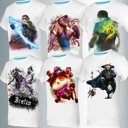 Wholesale 2016 new men s T shirt cotton short sleeved D men s lol Game Heroes union Teemo printing ink style