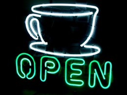 COFFEE SHOP OPEN SIGN BEER BAR NEON Real Glass Neon Light Sign Home Beer Bar Pub Recreation Room Game Room Windows Garage Wall Sign
