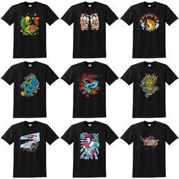 Wholesale Fish oriental style children Dragon katana personalized printed o neck T shirt cotton xs xl black short sleeve tshirt new arrival