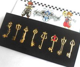 Wholesale Kingdom Hearts Necklace Heart Keychain arsenal necklace keychain toy gifts Kingdom series