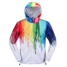 Wholesale 3D Hip Hop Jackets for Men Spring Kanye West White Hoodies Jacket Outdoor Basketball Soccer Sport Jackets