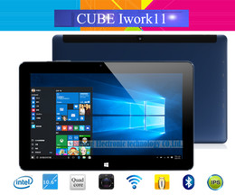 Ips tablet intel atom online-Al por mayor-Cube Iwork11 Stylus Windows 10 + Android 5.1 Dual OS Tablet PC 10.6 '' IPS 1920x1080 Intel Atom Z8300-X5 Quad Core 4 GB de RAM 64 GB ROM