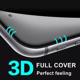 Iphone vidrio de alta calidad en venta-Vidrio templado curvado 3D de la alta calidad para el iphone 7 más el protector de la pantalla Vidrio lleno de la cobertura para el iPhone 7 más, vidrio templado del iPhone 6S