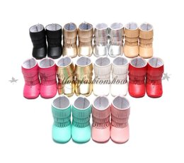 Wholesale Newest Hot Layer Tassel Moccasins Latest Pu Leather Baby First Walkers Shoes Newborn Baby Boots Infant First Step Shoes Prewalkers L354