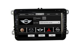 2 Din 8 Inch Full Touch Screen Stereo System Car GPS DVD PLAYER For VW CC