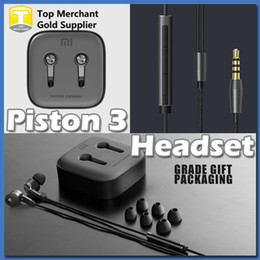 Wholesale New High Quality Black Metal Xiaomi Piston Fashion Design In Ear Headphones Earphone Headset Earbuds For iPhone S S7 Edge Smartphone