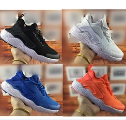 Wholesale hot sell women mens air cushion the heelpiece embroidery Wallace sports shoes AIR HUARACHE shoes kids cheaper