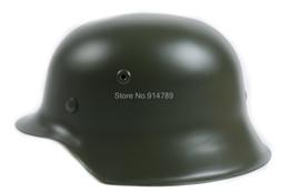 Wholesale WW2 GERMAN ELITE WH ARMY M42 M1942 STEEL HELMET GREEN