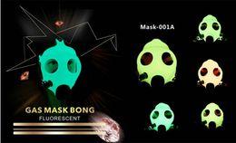 Wholesale Party Hookah Gas Mask Bong Creative Acrylic Smoking Pipe Gas Mask Pipes Acrylic Bongs Tabacco Shisha Pipe
