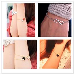 Cheap Official Men Bijoux 8 Infinity Heart Bracelet For Women Jewelry Accessories Wholesale Bangles Bijoux