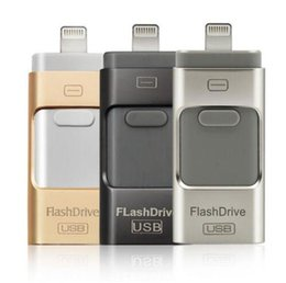 Wholesale I Flash OTG Usb Flash Drive GB GB GB GB Pen Drive For IPhone s c s sPlus ipad iFlash USB Memory Stick Free Ship