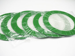 Wholesale FDA approved grren Round shape Silicone Mats Wax Non Stick Pads Silicon Dry Herb Mat Food Grade Baking Mat Dabber Sheets Jars Dab Pad