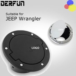 Wholesale For Jeep Wrangler JK Fuel Tank Cap Black Silver ABS Fuel Door Gas Tank Cover Fit for Doors