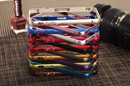 Wholesale 6s Aluminum Case Slim Metal Frame For Iphone s Deluxe Hard Cover With Safe Buckle Trendy Cell Phone Case For Iphone s