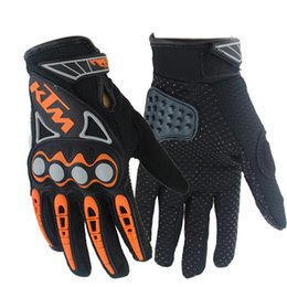 Wholesale-NEW Professional sport full finger leather motorcycle gloves guantes moto cycling motocross gloves guantes ciclismo racing