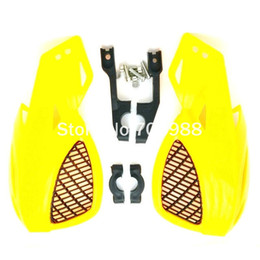 Wholesale YELLOW COLOR quot ATV hand guards KTM hand guards dirt bike hand guards Fit EXC CRF YZF KXF KTM