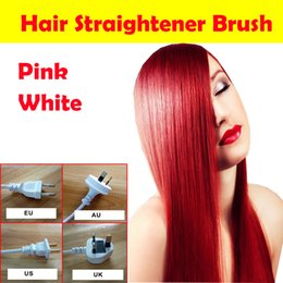 Wholesale Free Sample Fast Hair Straightener Brush Pro Automatic LCD magic hair Comb Digital Temperature Control Salon styling Tool Hair Straighteners