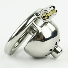 New Super Small Male Chastity Device 35MM Adult Cock Cage With Urethral Catheter BDSM Sex Toys Stainless Steel Chastity Belt