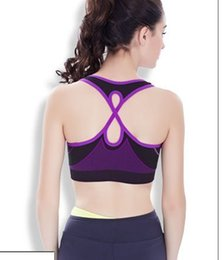 Wholesale New style wire free active lady bras wide belt yoga sports bra Vest type thin underwear