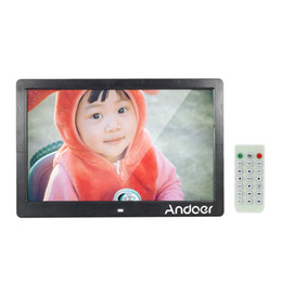 Wholesale Andoer quot TFT LED Digital Photo Picture Frame High Resolution Advertising Machine MP3 MP4 Player Alarm Clock Remote Control