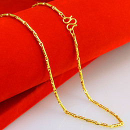 10 years do not change color gold necklace female man imitation gold 24K gold plated gold chain chain mixed bamboo fine