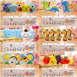Wholesale HOT Colored Happy Birthday quot Candles High Quality Independent Packing EMS freeshipping