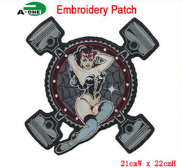 Wholesale motorcycle patch southern discomfort patch iron on patches big size applique patches for clothing