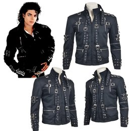 Wholesale High Quality Original King Singer Michael Jackson Concert quot Bad quot Cosplay Costume Daily Jacket Black Coat Customize