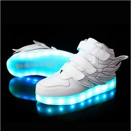 Wholesale Charging Basket Led Children Shoes With Light Up Kids Casual Boys Girls Luminous Sneakers Glowing Shoe enfant AA