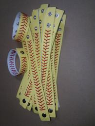 Wholesale 2016 New Arrival American Major League Baseball Baseball Woven Leather Bracelet