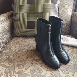 Wholesale Hot sale short boot leather boots in black color genuine leather best quality