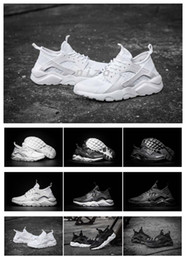 Wholesale New Design Air Huarache Ultra Breathe All White Mesh Shoes Men And Women s Huaraches Running Sneakers Size