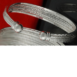 Factory direct wholesale 925 Sterling Silver Multi line car flower bracelet bangle fashion jewelry silver bracelet