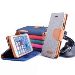 2017 couleur de titulaire de la carte Housse en cuir coréenne MERCURY à double couleur pour housse pour iphone 6 plus Samsung Galaxy S5 S6 Edge avec support pour porte-cartes abordable couleur de titulaire de la carte