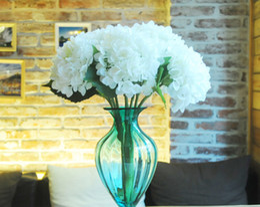 Wholesale Highest Quality Hydrangea Big Flower head cm quot Silk White Hydrangeas Bouquet for Wedding Centerpieces Home Party Decorative