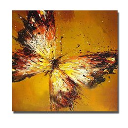 Chinese Wall Art Beautiful Flying Butterfly Oil Painting for Bedroom Decoration Hand Painted Oil Canvas Painting Home Decor No Framed