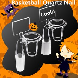 Wholesale Cool Conical BasketBall Stand Quartz Banger Nail Backboard Quartz Nail Novel Domeless Quartz Nail Female Male Joint Available at DUDU8868