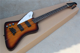 4-String Left-hand Electric Bass with Smoky Body and Neck-thru-body Design and Can be Customized as Request