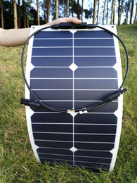 Wholesale 25W V Semi Flexible Bendable Cell Solar Panel Battery Rv Boat