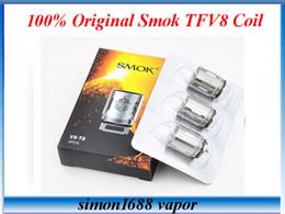 Wholesale Authentic Smok TFV8 Coil Head V8 T8 V8 T6 V8 Q4 Replacement Coils Smok TFV8 Baby coils v8 baby q2 core e cigarette vaporizer VS SSOCC Coils