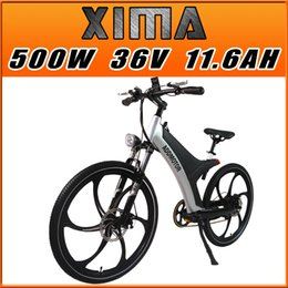Wholesale In Stock Addmotor XIMA Frame s City Bike Magnesium Integral Wheel Black V W AH quot Electric Bicycle Newest Design Built in Battery