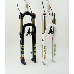 "DFS air fork DFS-RLC-RCE 26er 27.5er suspension mountain fork bicycle MTB fork REMOTE lock out damping adjust 100mm travel 1-1 8"" BLACK WHIT"