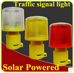 Wholesale Led solar powered road safety traffic warning light signal light emergency light Beacon Alarm Lamp waterproof