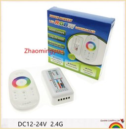 YON 1PCS RGBW led controller DC12-24V RGBW led controller 2.4G touch screen RF remote control for led strip bulb downlight