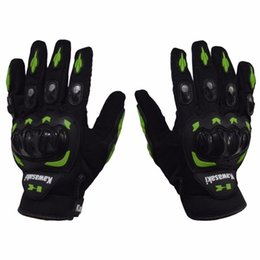 Wholesale 1 Pair Kawasaki Full Finger Guantes Motorcycle Gloves Motorbike Luva Moto Motocicleta Motocross Guantes Gloves M L XL XXL