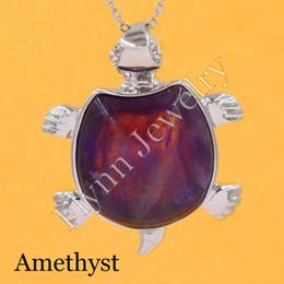 2016 Amethyst Agate Moonstone Various Natural Stone Mascot Tortoise Turtle Reiki Pendant Charms Health Amulet Jewelry 10pcs